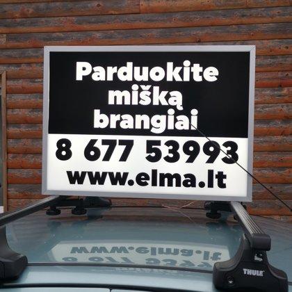 Reklama automobilių šviesdėžėse